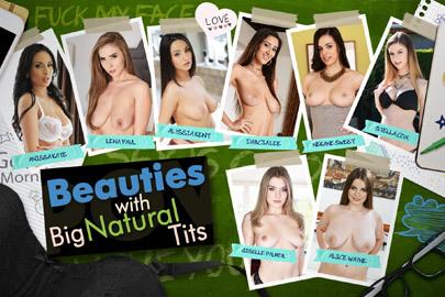 Beauties with Big Natural Tits